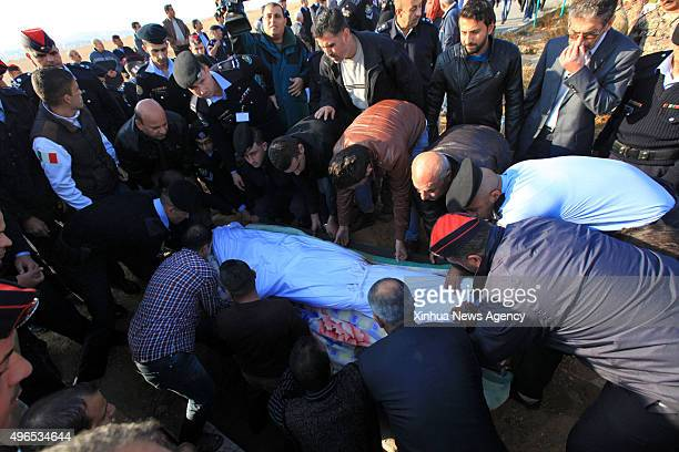 ZARQA Nov 10 2015 People carry the coffin of Kamal Malkawi during his funeral at Zarqa city Jordan Nov 10 2015 A Jordanian officer on Monday shot...