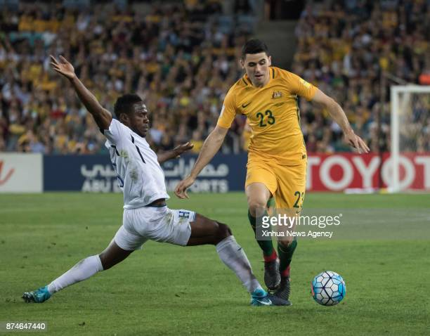 Tom Rogic of Australia competes during the FIFA world cup 2018 Qualifiers intercontinental Playoff match between Australia and Honduras at Stadium...