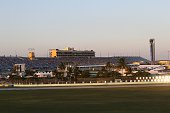 A view of the infield and grandstand of the HomesteadMiami Speedway in Homestead FL during the NASCAR Nationwide Series Ford Ecoboost 300 Picture...