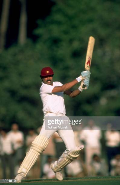 Kapil Dev of India in action during a match Mandatory Credit Adrian Murrell/Allsport