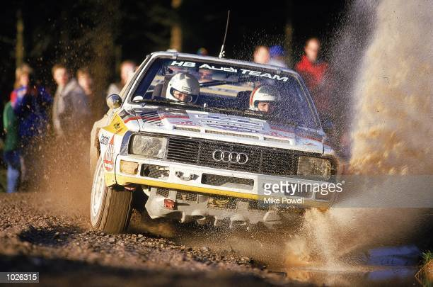 Michele Mouton and Fabrizia Pons in action in their Audi during the RAC Rally of Great Britain Mandatory Credit Mike Powell /Allsport