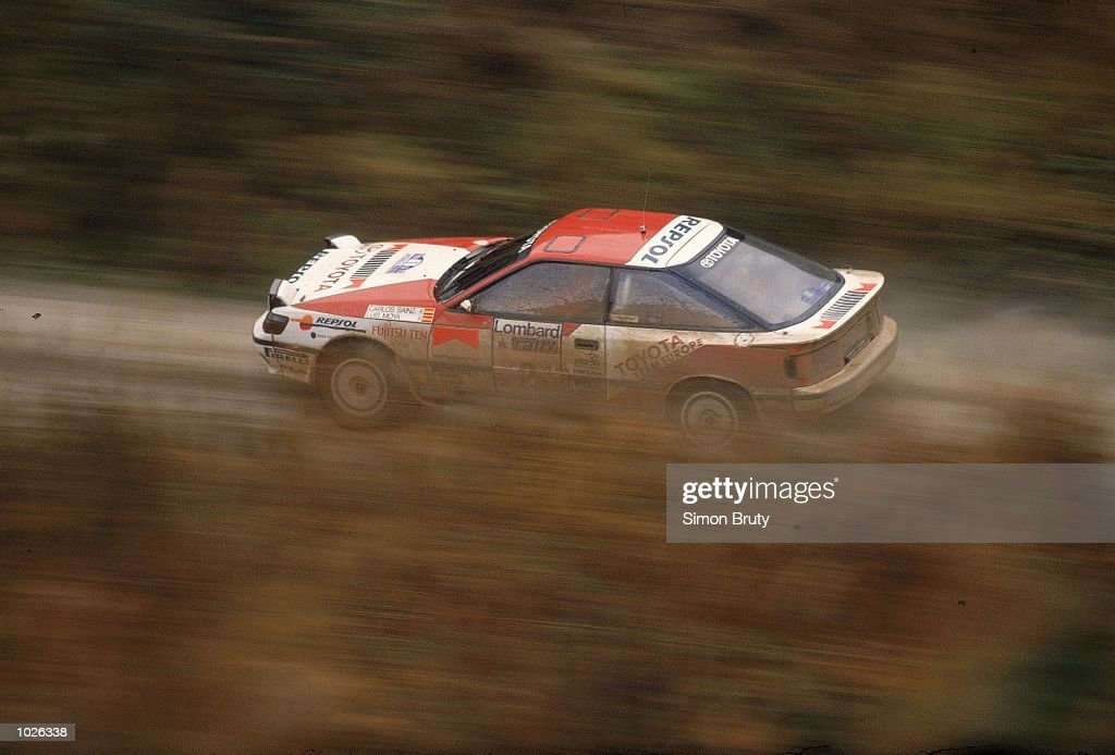 Carlos Sainz of Spain in action during the RAC Rally of Great Britain Mandatory Credit Simon Bruty /Allsport