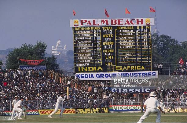 General view of the 2nd one day International between India and South Africa at Gwalior