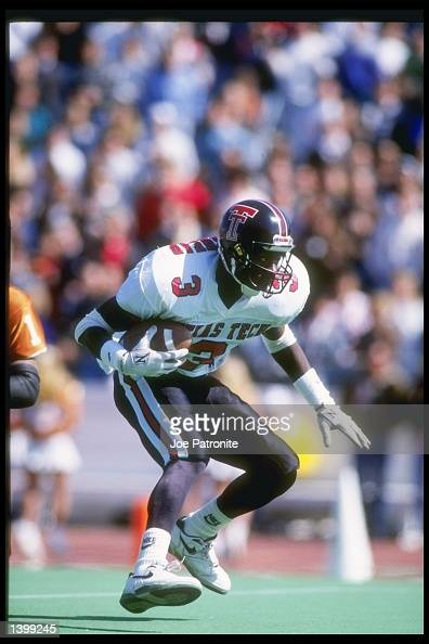 Wide receiver Rodney Blackshear of the Texas Tech Red Raders in action during a game against the Texas Longhorns at Texas Memorial Stadium in Austin...