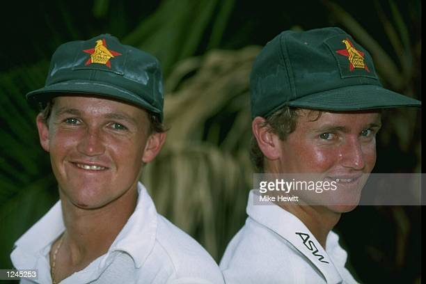 Portrait of Andy and Grant Flower of Zimbabwe during the 1st Test against New Zealand in Bulawayo