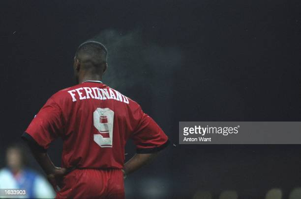Les Ferdinand of Queens Park Rangers ''lets off steam'' during an FA Carling Premiership match against Blackburn Rovers at Ewood Park in Blackburn...