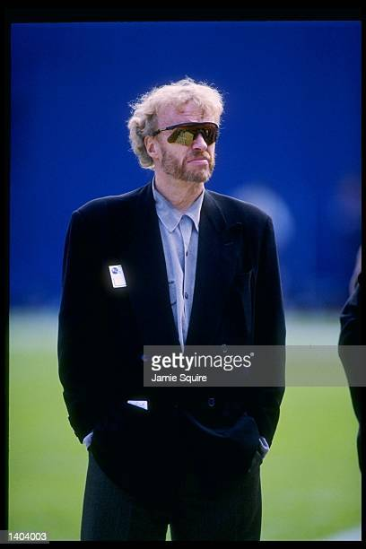 Nike CEO Phil Knight watches the San Diego Chargers vs Denver Broncos game at the Mile High Stadium in Denver Colorado The Broncos won 3027 Mandatory...