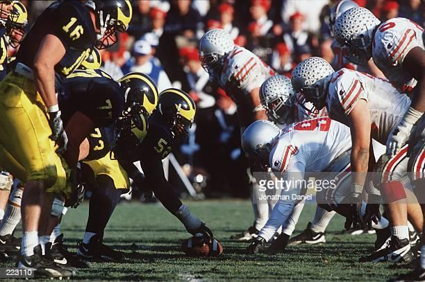 Ohio State and Michigan go head to head in Michigan's 3123 victory over Ohio State at Michigan Stadium in Ann Arbor Michigan