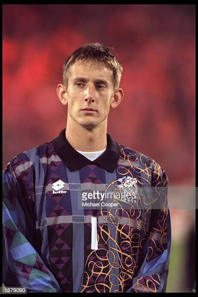 Portrait of Edwin Van Der Sar of Holland before the Start of the European Championships qualifier against Norway Holland won the game 30