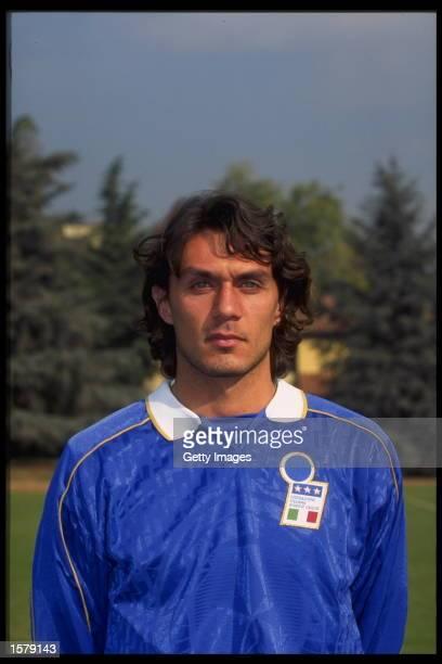 Portrait of Paolo Maldini of Italy