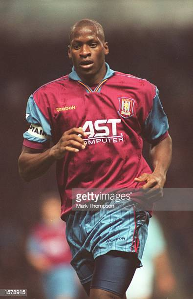 Ugo Ehiogu of Aston Villa in action during the Carling FA Premiership match between Manchester City and Aston Villa at Maine Road Manchester...