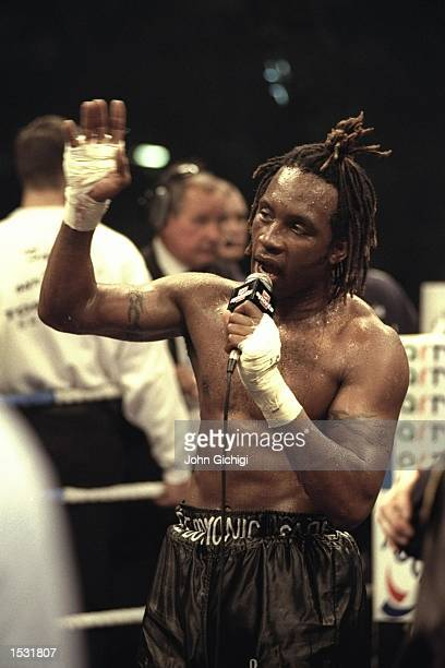 Nigel Benn once again announces his retirement from the ring after his defeat by Steve Collins after the Benn v Collins rematch at the Nynex Arena...