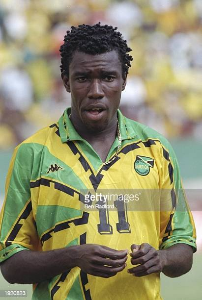 A portrait of Theodore Whitmore of Jamaica before the World Cup Qualifier against Mexico at Kingston in Jamaica Mandatory Credit Ben Radford /Allsport