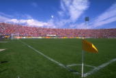 General view of the Estadio Nacional before the World Cup qualifying match between Chile and Bolivia in Santiago Chile Chile won the match 30...