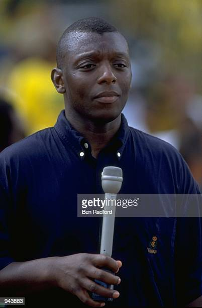 Portrait of BBC Pundit Garth Crooks during the World Cup Qualifier between Jamaica and Mexico at the National Stadium in Kingston Jamaica Mandatory...