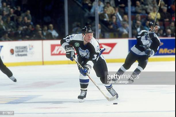 Rightwinger Mikael Andersson of the Tampa Bay Lightning in action against the Montreal Canadiens during a game at the Molson Center in Montreal...