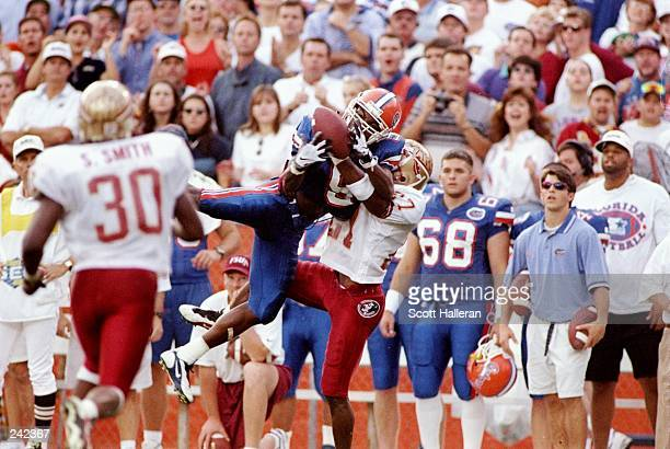 Wide receiver Jacquez Green of the Florida Gators in action during a game against the Florida State Seminoles at Florida Field in Gainesville Florida...