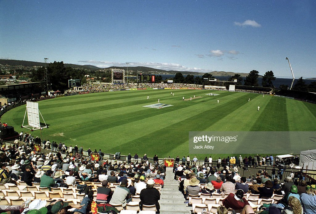 A general view of the Bellerive Oval , during day two of the Second test between Australia and Pakistan at Bellerive Oval, Hobart, Australia. Mandatory Credit: Jack Atley/ALLSPORT