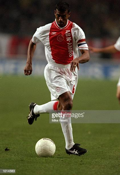 Aron Winter of Ajax in action during the UEFA Cup Round 2 Leg 2 match against Hapoel Haifa from the Amsterdam ArenA Amsterdam Netherlands The game...