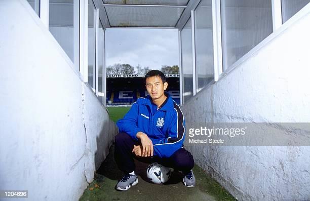 Baichung Bhutia of Bury FC and India Mandatory Credit Michael Steele /Allsport