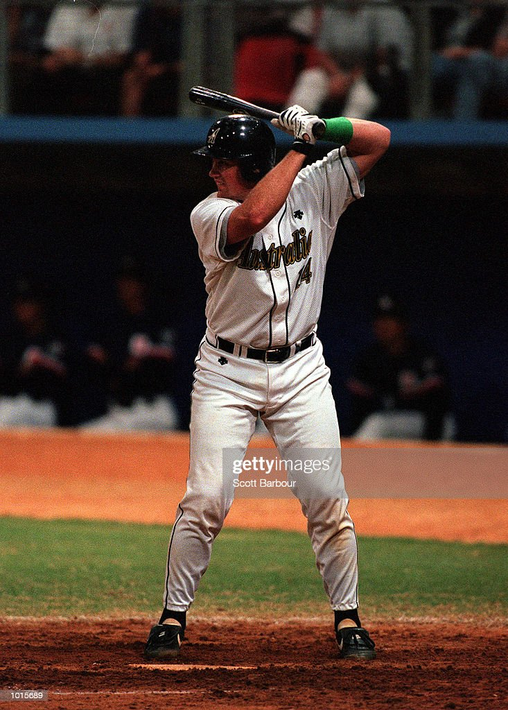 David Nilsson of Australia in action during the match between Australia v Cuba in the IBA Intercontinental Baseball Cup at the Baseball Stadium, Sydney Olympic Park, Homebush, Sydney, Australia. Australia defeated Cuba 4-3. Mandatory Credit: Scott Barbour/ALLSPORT