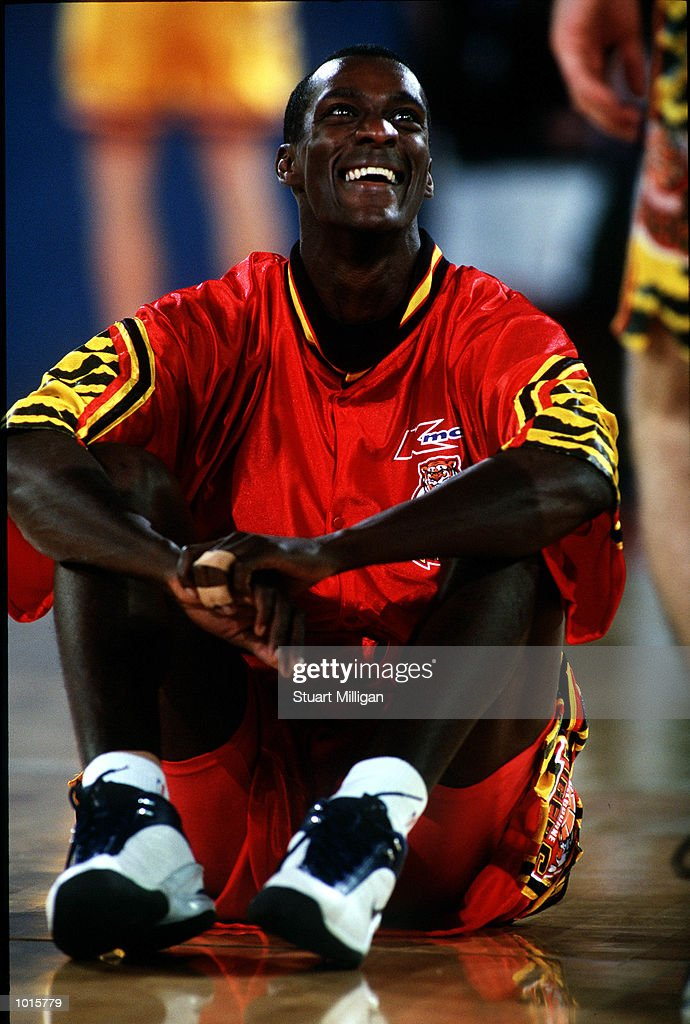 Lanard Copeland of Melbourne Tigers has a rest during the NBL match between Melbourne Tigers v Adelaide 36ers at Melbourne park,Melbourne Australia. Adelaide won 104-84. Mandatory Credit: Stuart Milligan/ALLSPORT