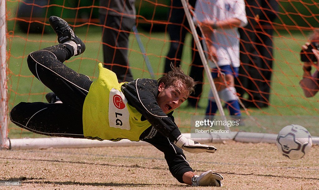 Mark Bosnich Of Australia in action during this mornings training session held at Saint Ignnatius College, in preparation for the game between Australia and Brazil to be played at Stadium Australia on Sunday in Sydney, New South Wales, Australia. Mandatory Credit: Robert Cianflone/ALLSPORT