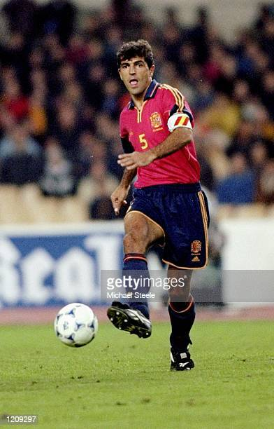 Miguel Angel Nadal of Spain in action during the International Friendly against Argentina at the Olympic Stadium in Seville Spain Mandatory Credit...