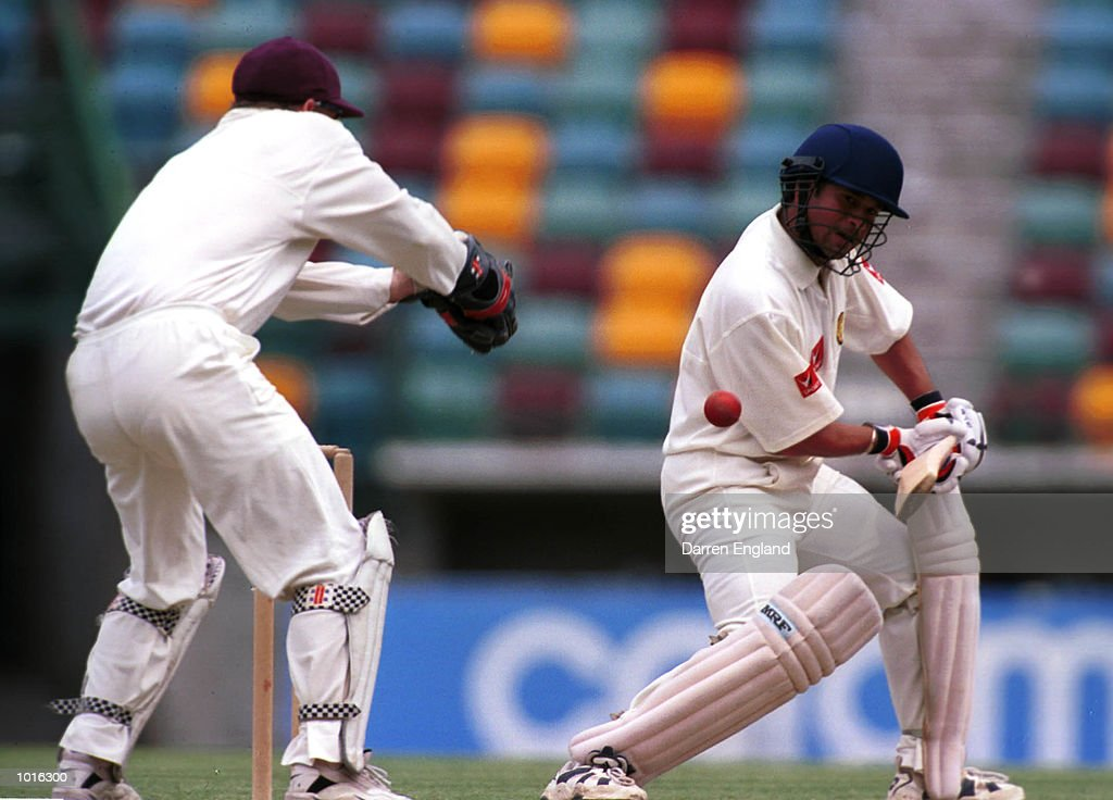 Sachin Tendulkar of India in action against Queensland at the Gabba cricket ground in Brisbane. Mandatory Credit: Darren England/ALLSPORT