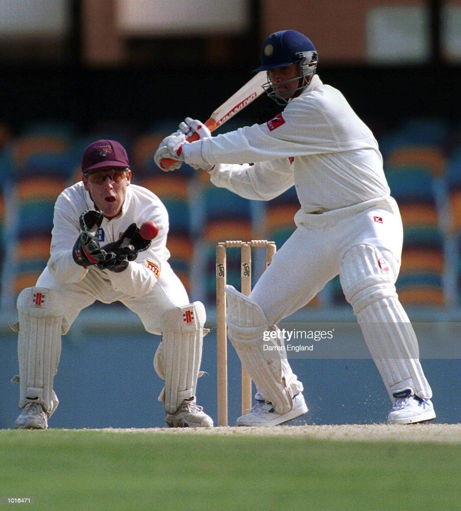 Sadagoppan Ramesh of India in action during the game against Queensland at the Gabba Cricket Ground in Brisbane. Mandatory Credit: Darren England/ALLSPORT
