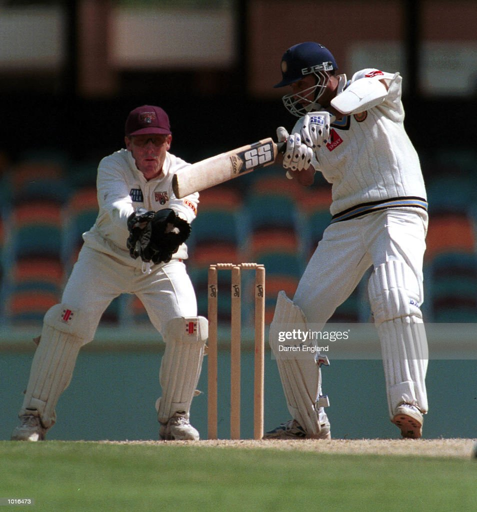 Vangipurappu Laxman of India in action during the game against Queensland at the Gabba Cricket Ground in Brisbane. Mandatory Credit: Darren England/ALLSPORT