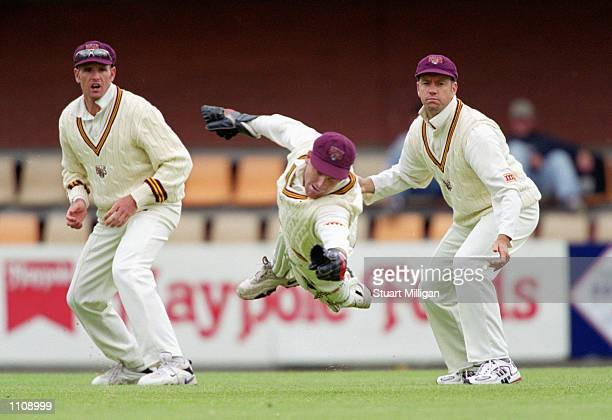 Wade Seccombe of Queensland in action during the 1999/2000 Sheffield Shield match played between the Tasmanian Tigers and the Queensland Bulls held...