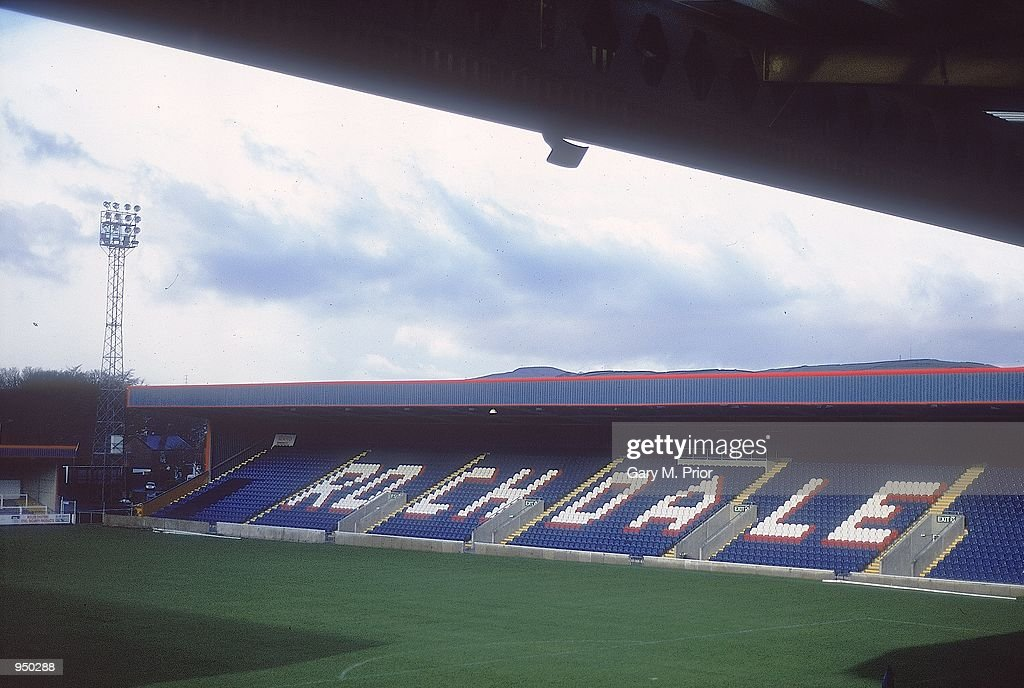 General view of Spotland Stadium home of Rochdale FC in Rochdale England Mandatory Credit Gary M Prior/Allsport