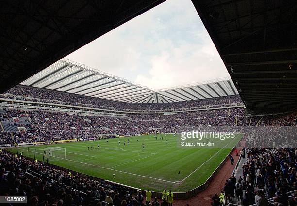 General view of the stadium during the FA Carling Premiership match between Newcastle United and Ipswich Town at St James Park in Newcastle England...