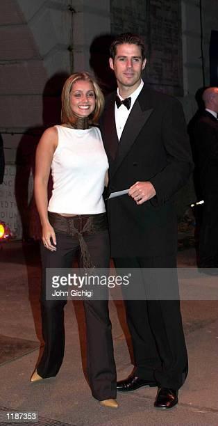 Jamie Redknapp and his wife pop singer Louise arrive for The AXA Final Ball at Wembley Stadium London Mandatory Credit John Gichigi/ALLSPORT