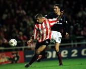 Kevin Phillips of Sunderland is pulled down by John O'shea of Manchester United for the decisive penalty during the Sunderland v Manchester United...