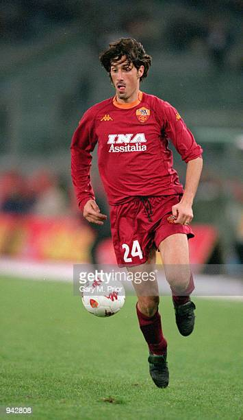 Marco Delvecchio of Roma bursts forward during the UEFA Cup second round second leg match against Boavista played at the Stadio Olympico in Rome...