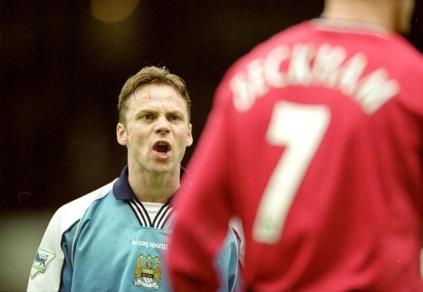 Paul Dickov and David Beckham : News Photo