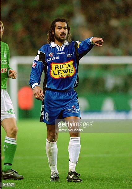 Samuel Boutal of Troyes during the Championnat de Premiere Division game against St Etienne at the Stade Guichard in St Etienne France St Etienne won...
