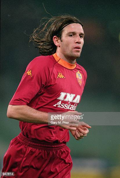 Vincent Candela of Roma in action during the UEFA Cup second round second leg match against Boavista played at the Stadio Olympico in Rome Italy The...