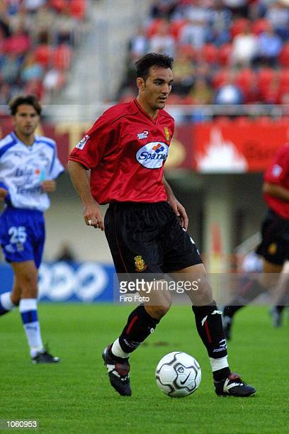 Alejandro Campano of Real Mallorca in action during the Primera Liga game between Real Mallorca and Tenerife played at Son Moix Stadium Mallorca...