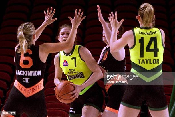 Allie Douglas of the Rangers in action during the Sydney Paragon Panthers v Dandenong Rangers match held at the Sydney Superdome in Sydney Australia...