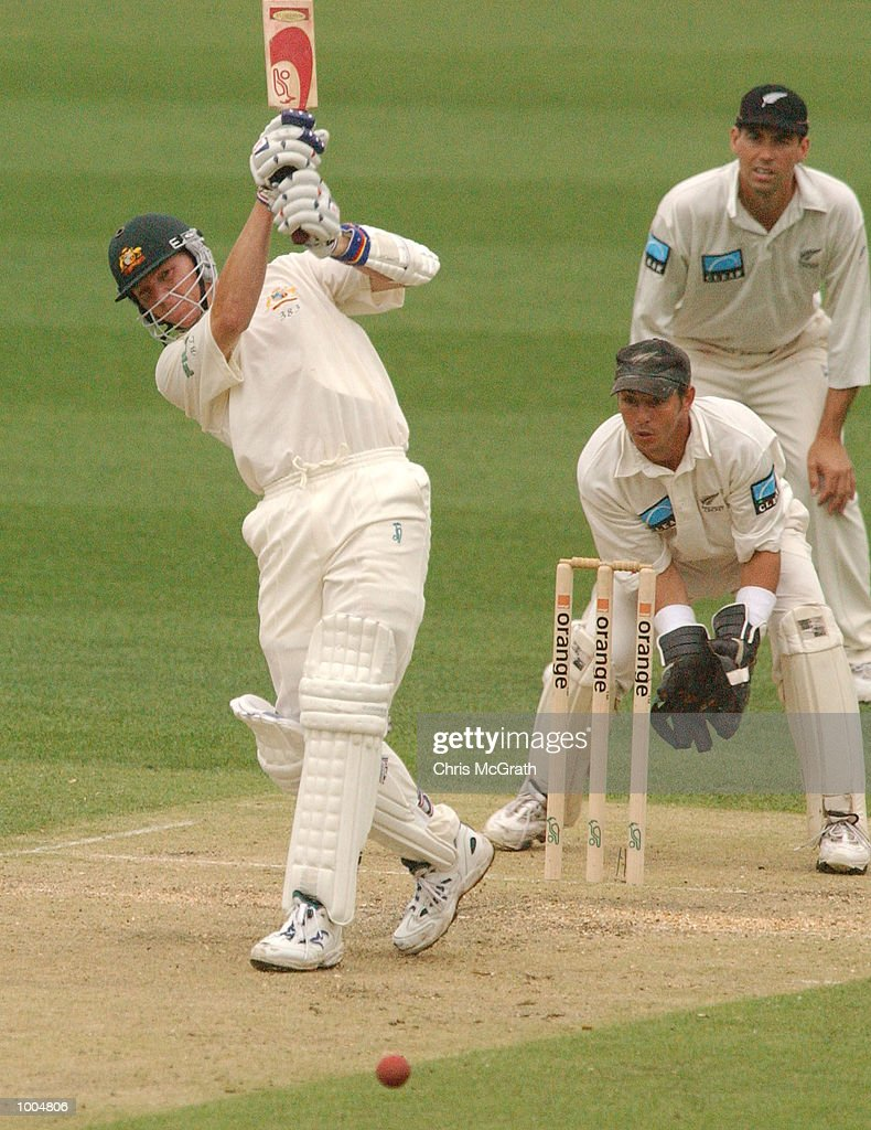 Brett Lee of Australia in action during day two of the first cricket test between Australia and New Zealand held at the Gabba, Brisbane, Australia, DIGITAL IMAGE Mandatory Credit: Chris McGrath/ALLSPORT