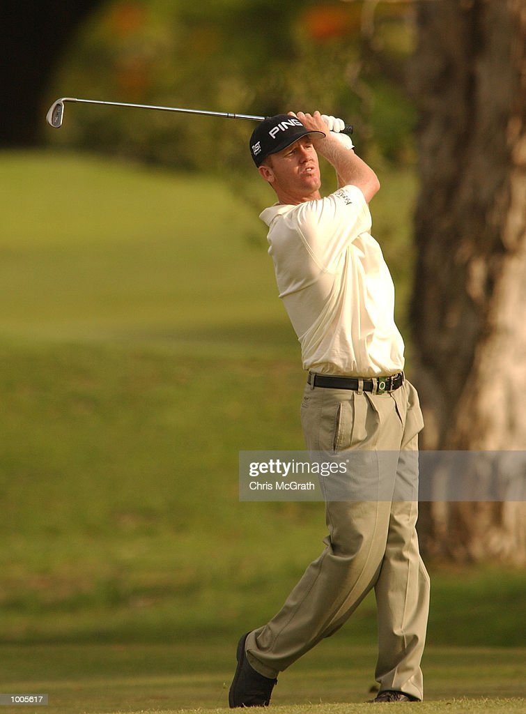 Chris Riley of the USA in action on the 18th fairway during the Australian PGA Championship Pro AM held at Royal Queensland Golf Club, Brisbane, Australia. DIGITAL IMAGE Mandatory Credit: Chris McGrath/ALLSPORT