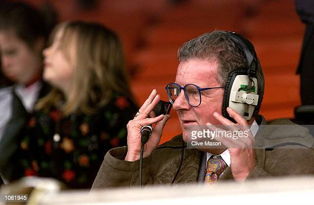 Commentator John Motson during the AXA sponsored FA Cup first round match between Hereford United and Wrexham at Edgar Street Hereford DIGITAL IMAGE...