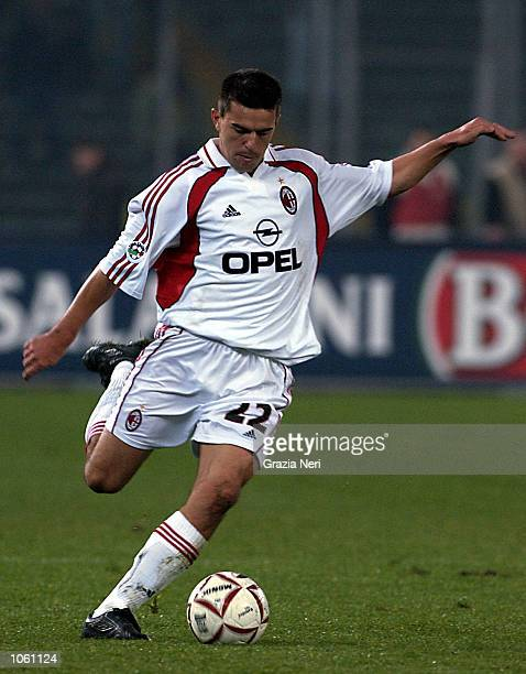 Cosmin Contra of AC Milan in action during the Serie A 10th Round League match between Torino and AC Milan played at the Delle Alpi Stadium in Turin...