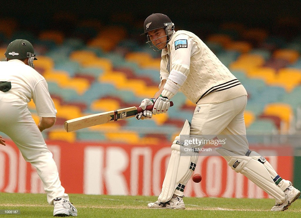 CRaig McMillan of New Zealand in action during day four of the first cricket test between Australia and New Zealand held at the Gabba, Brisbane, Australia, DIGITAL IMAGE Mandatory Credit: Chris McGrath/ALLSPORT