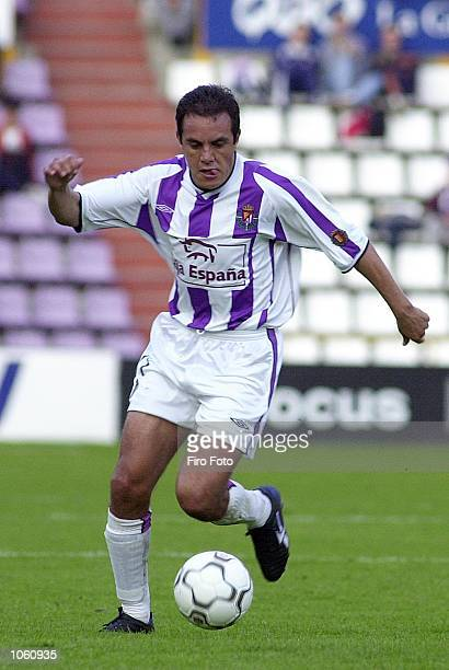 Cuauthemoc Blanco of Valladolid in action during the Primera Liga match between Valladolid and Villarreal played at the Jose Zorrilla Stadium...