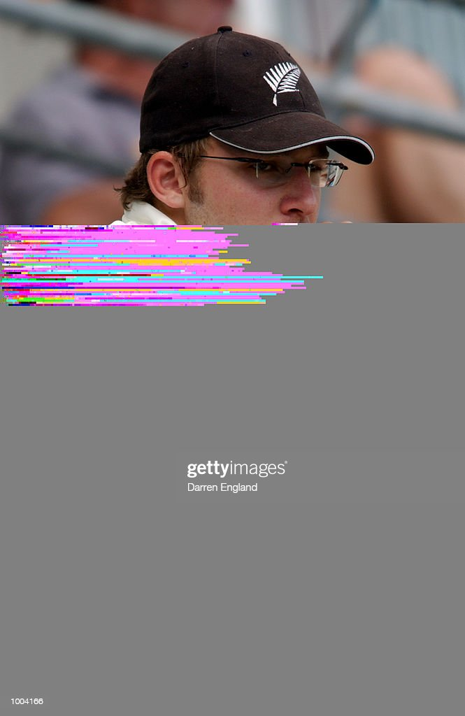 Daniel Vettori of New Zealand watches the game from the stands during the New Zealand versus Queensland cricket match played at the Gabba in Brisbane, Australia. The match is part of the New Zealand team's tour of Australia. DIGITAL IMAGE.Mandatory Credit: Darren England/ALLSPORT
