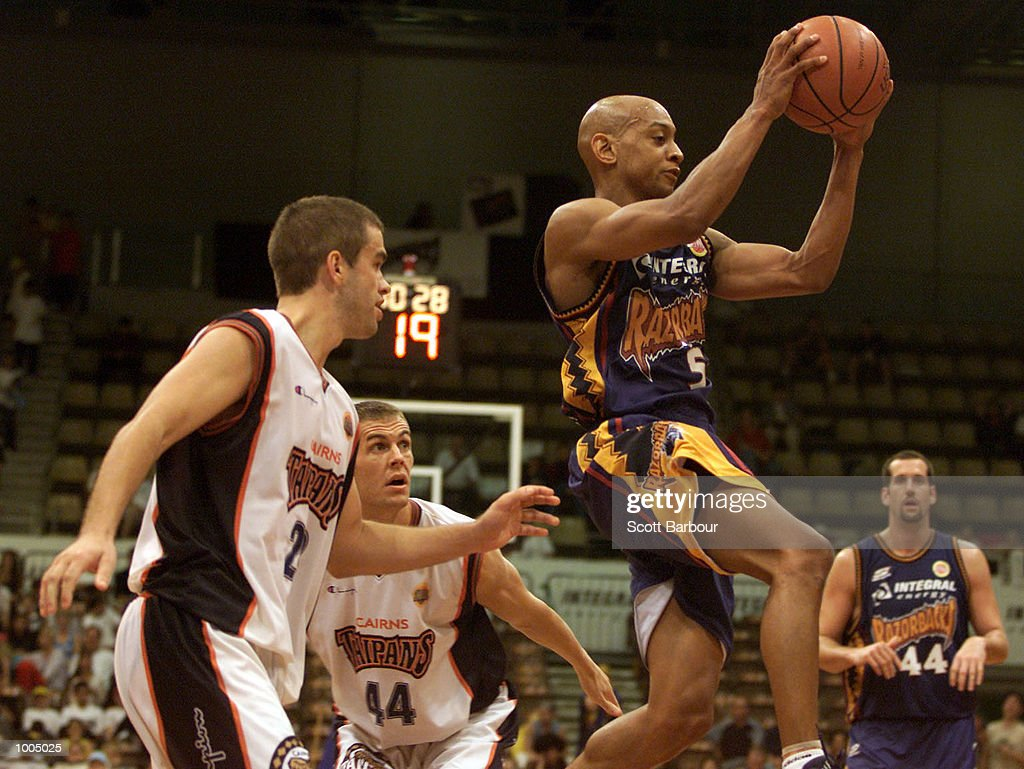 Derek Rucker #5 of the Razorbacksin action during the NBL match between the West Sydney Razorbacks and the Cairns Taipans held at the State Sports Centre in Sydney, Australia. DIGITAL IMAGE. Mandatory Credit: Scott Barbour/ALLSPORT